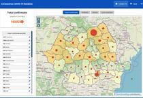 Harta cazurilor de coronavirus in judete - 14 mai