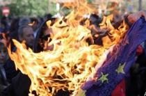 Steagul UE, incendiat (screenshot)