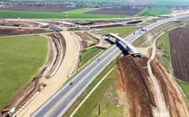 Intersectia A10 - A1 de la Sebes
