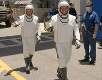 Astronautii Hurley si Behnken