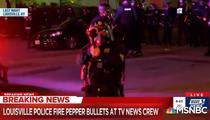 Politisti americani trag cu munitie neletala intr-o echipa de jurnalisti