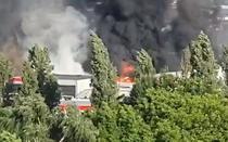Incendiu puternic in Capitala