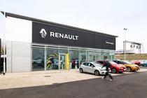 Showroom al Renault in UK