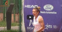 Simona Halep, la antrenament