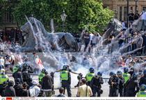Protest in Trafalgar Square, Londra