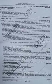 Subiecte română Evaluare Națională 2020