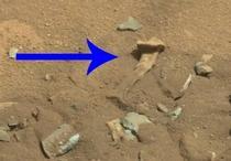 Un os de om pe Marte