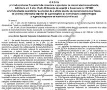 Procedura de legare la ANAF a caselor de marcat electronice