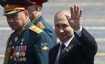 Vladimir Putin la parada de Ziua Victoriei
