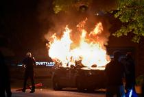 masina de politie incendiata proteste SUA