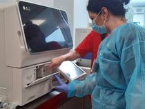 Instalare aparat la Spitalul Gomoiu