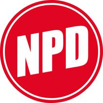 Sigla partidului extremist National Democrat din Germania