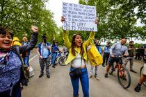 Proteste anti-lockdown Londra