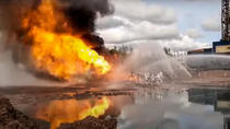 Incendiu put petrolier Rusia