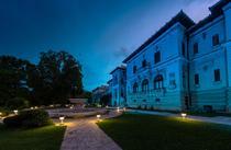 Palatul Cotroceni, iluminat in turcoaz