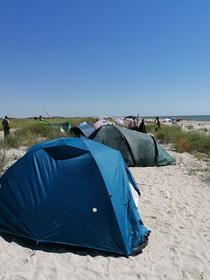 turisti pe plajele salbatice