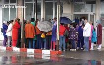 Protest la spitalul din Gaesti