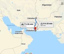 Cele doua orase iraniene pe harta