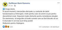 Probleme in reteaua Raiffeisen Bank