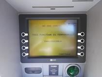 ATM Raiffeisen nefunctional