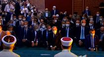 Recep Erdogan participand la prima zi de rugaciuni la Sfanta Sofia