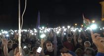 Protest pentru libertatea presei in Budapesta, Ungaria