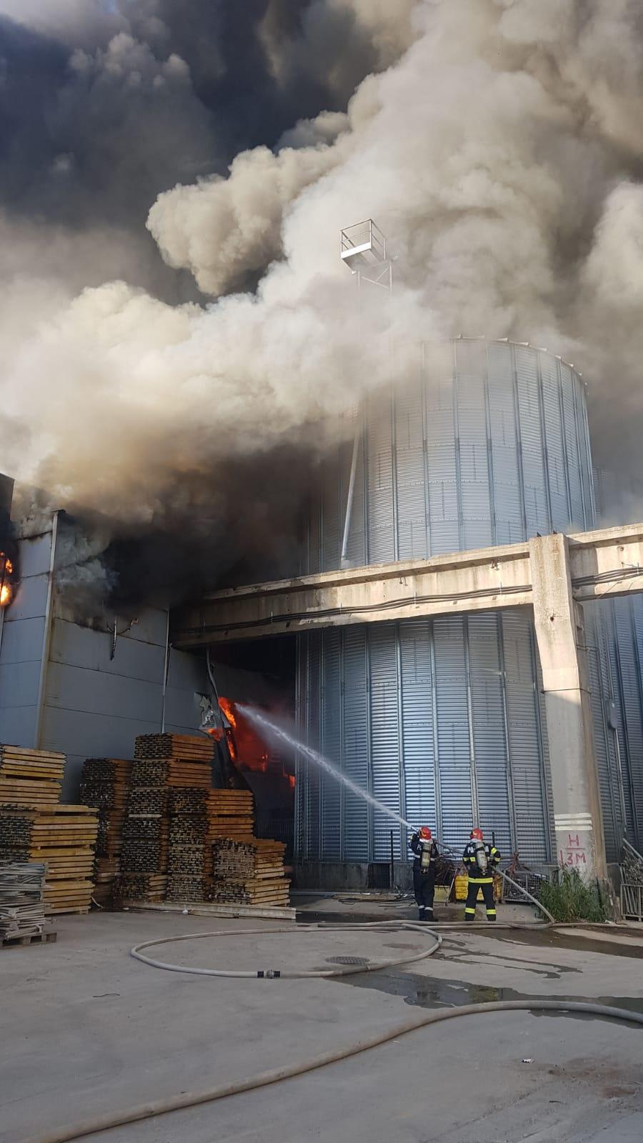 Incendiu puternic în apropiere de Bucureşti. Este...  |Incendiu Bragadiru