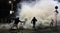 Proteste in Belgrad (sursa foto-twitter)