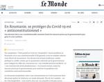 Articolul din Le Monde