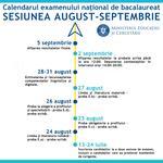 Calendarul sesiunii august-septembrie a examenului de Bacalaureat 2020