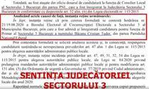 Sentinta Judecatoria Sector 3