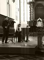 Teo și Karina în Biserica Sf Nicolae-Aachen