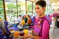 cafenea in avion (sursa foto- twitter)