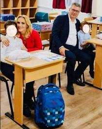 Gabriela Firea in sala de clasa