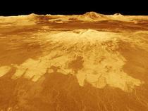 Suprafata planetei Venus, imagine generată pe computer