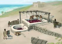 cum functiona teascul - reconstituire Tell el-Burak Archaeological Project