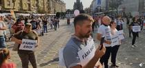 Protest anti-masca la Timisoara