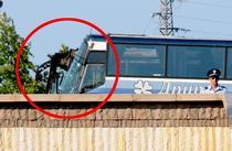 Autobuz avariat in urma atacului terorist din Burgas