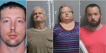 Steven Vogel (stanga) si celelalte trei persoane puse sub acuzare