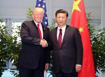 Donald Trump si Xi Jinping la Summitul G20, 2017