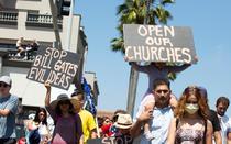 Protest in California impotriva restrictiilor din pandemie