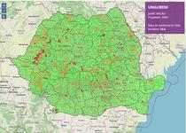 Rata de incidenta COVID-19 in localitatile din Romania