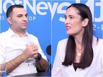 Cristian Bacanu si Clotilde Armand, in studioul HotNews.ro