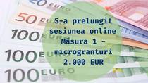 Prelungire Măsura 1 - microgranturi 2.000 EUR