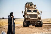 Vehicul militar SUA în Rumaylan, zona kurdă a Siriei