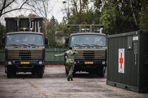 Armata ceha construieste un spital de campanie