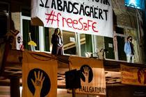 Protest al studentilor de la Universitatea de Teatru si Film din Budapesta