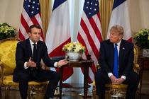Emmanuel Macron si Donald Trump
