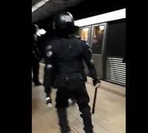 Jandarmii au intervenit direct pe peron