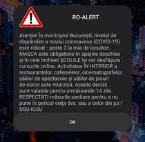 Mesa RO-ALERT despre situația COVID-19 în București